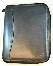 Franklin Covey Genuine Black Leather Planner Organizer Spacemaker 10x8