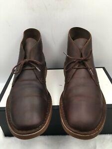 Clarks Bushacre 26082286 Brown Leather Desert Chukka Boots Lace Up Men's Sz 14 M