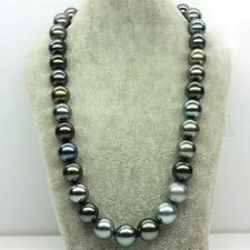 Huge 12mm Genuine Multicolor South Sea Shell Pearl Round Beads Necklace 18'' AAA