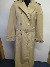 Véritable vintage Aquascutum marron imperméable trench coat mac taille uk 12 euros 40