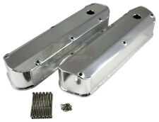 62-85 SBF Ford 289 302 351W Long Bolt Polished Fabricated Aluminum Valve Covers