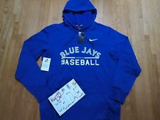 NWT Toronto Blue Jays Nike MLB Men Blue GM Therma Hoodie Pullover Jacket L
