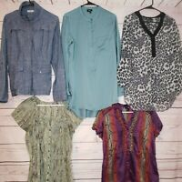 Set of 5 Casual Women's Blouse Size Large A44