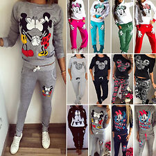 Women Ladies 2Pcs Tracksuits Hoodies Sweatshirt Pants Set Sport Wear Casual Suit