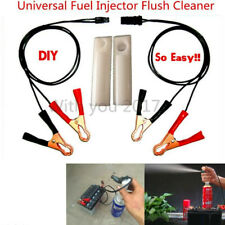 Vehicle Fuel Injector Flush Cleaner Adapter Kit Car Cleaning Tool w/ 2 Nozzles