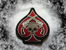 Patch,Aufnäher,Badge,Aufbügler,Skull,Ace Of Spades,Pik Ass