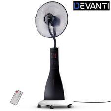Devanti Portable Misting Fan Pedestal Remote Water Cool Mist Touch Panel 40cm WH