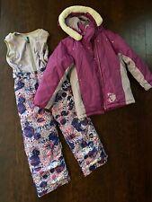 Girls Youth Jupa Purple Ski Suit Pants Size 6 And Jacket Size 8