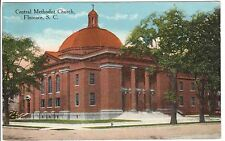 Early 1900's The Central Methodist Church in Florence, SC South Carolina PC