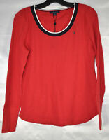 TOMMY HILFIGER Womens Long Sleeve Waffle Knit Thermal Top - Sweater, Size M NwT