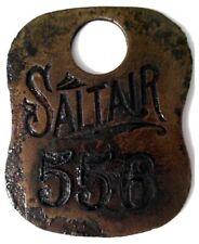 New listing Vintage, Saltair Swimming Locker Tag, (Salt Lake City, Utah) Antique brass tag