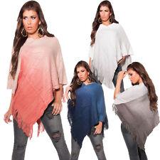 Mehrfarbige Damen-Pullover & -Strickware im Ponchos-Stil