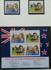 NEW ZEALAND stamps – 1990 Health – Sportsmen set MNH  (2+MS)