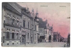 AK Zeulenroda-Triebes --Marktstrasse-- mit Wohnhäusern um 1912