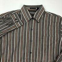Van Heusen Dress Shirt Mens 15-15.5 Multicolor Long Sleeve Striped Wrinkle Free
