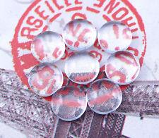 25 klare GLAS CABOCHON Rund 6 mm flach NEU Glasstein Klebstein NEU CS6M