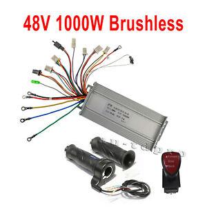 48V 1000W Brushless Speed Controller Forward Reverse Switch Throttle for E-Bike