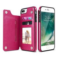 Cartera Plegable De Cuero tarjetero Funda Cubierta para el iPhone 6 7 8 Plus