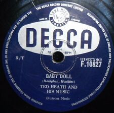 TED HEATH ~ BABY DOLL~ ARMEN'S THEME ~ 78rpm RECORD