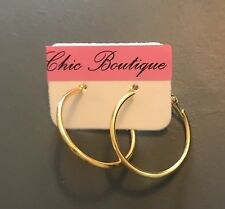 Earring Boho Festival Party Boutique Uk Gold Small Hoop Ring 25mm Luxury Fashion