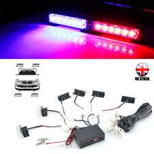 Car 6 LED Amber Flashing Grill Lights Bar Strobe Warning Recovery Breakdown 12V