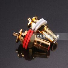 1pcs US brand CMC816u oxygen-free copper-plated fever RCA socket