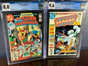 First Appearance #1 ALL STAR SQUADRON Key Lot JUSTICE LEAGUE OF AMERICA 193 CGC