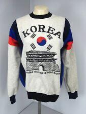 NWOT Vtg 70s Korea Namdae Mun Gate Seoul Korea Gray Pullover Sweatshirt Sz M