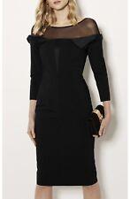 Karen Millen MESH BARDOT PENCIL DRESS Size 8