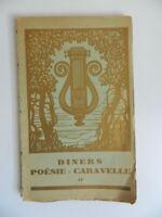"""Menú """"Poésie-caravelle"""" Cena de La Violeta Por Colette Noel DE PETER París 1933"""
