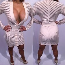 Connie's Cream Beige Mini Dress See Thru top and Bottom With Built shorts XL
