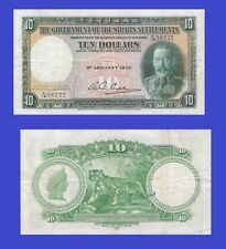 Straits Settlements 10 dollars 1935. UNC - Reproduction