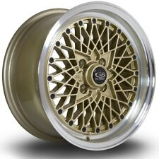 "15""  ROTA OS Mesh  4/100  +30  Gold / Polished Lip WHEELS RIMS TOYOTA, HONDA"