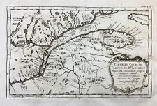 1773 Bellin Map of CANADA NOVA SCOTIA St. Lawrence River Quebec