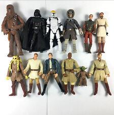 "12Pcs Star wars Han Solo Yoda master Kenobi Obiwan Chewbacca 3.75"" Figure Dolls"