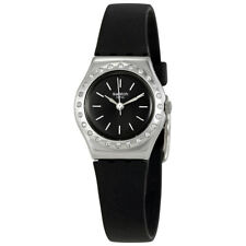 Swatch Camanoir Grey Dial Ladies Silicone Watch YSS312