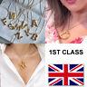 Letter Initial Alphabet Pendant Necklace Brass Gold A-Z UK Seller