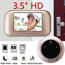 3.5 inch 720P Digital Door Bell Camera Video Peephole Viewer Zoom Video Recorder