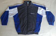 Vintage 80's Adidas Windbreaker Rare Blue Track Jacket Size L Top West Germany