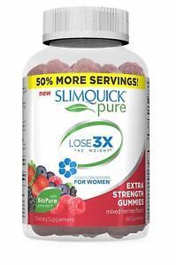 SlimQuick Pure Gemischte Beeren Gummies Nahrungsergänzungsmittel 60 Gummies