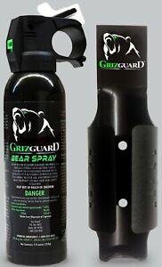 Griz Guard Bear Spray With Black Griz Guard Holster 7.9oz