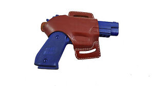 Armadillo Brown Leather Butterfly Holster w/strap for Kahr Pm9 (H3) (OWB)