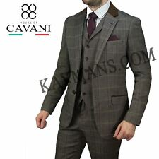 Mens Cavani  Herringbone Blazer Waistcoat Trousers 3 Piece Suit Sold Separately