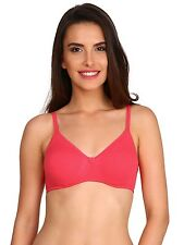 Jockey X-cite Cross Over Cotton Bra With Soft Cups Coverage in 7 Awesome Colors B 32 White