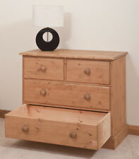 hand made solid pine CHEST OF DRAWERS. hand waxed