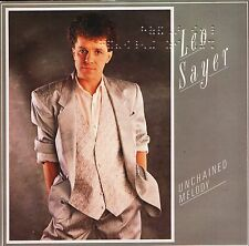 "LEO SAYER unchained melody/heart for sale LEO 3 braille sleeve 1985 7"" PS EX/EX"