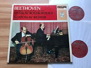 PHILIPS 6999 015 BEETHOVEN - CELLO SONATAS *ROSTROPOVICH / RICHTER* 2 LPs NM