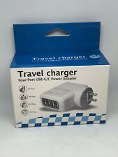 USB Wall Charger 4Port Fast Charging For iPad iPhone Samsung Plug Travel Charger