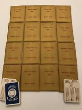 APBA 1922 Baseball Complete Set Original 16 Teams Mfg. 1978 12 on 65 NM-MINT