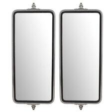 "New Pair Universal West Coast Truck Side Mirror Head Stainless Steel 7""x16"""